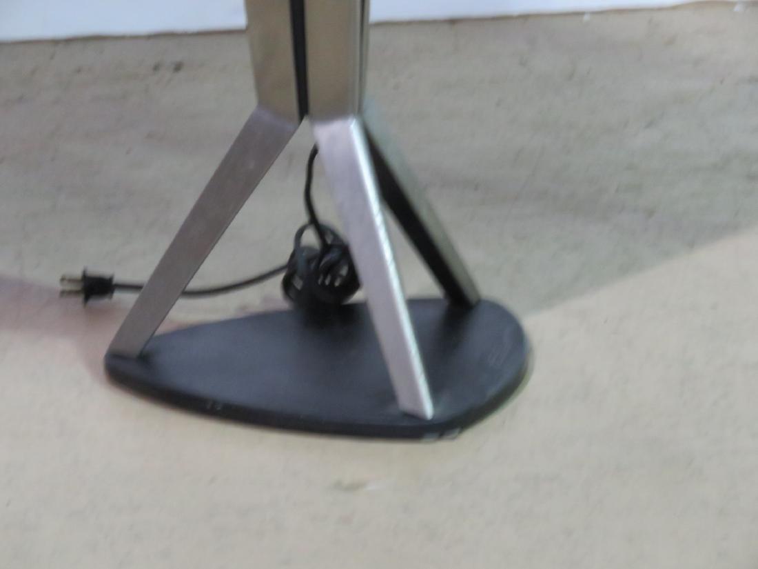 MID CENTURY MODERN STAINLESS STEEL FLOOR LAMP - 2