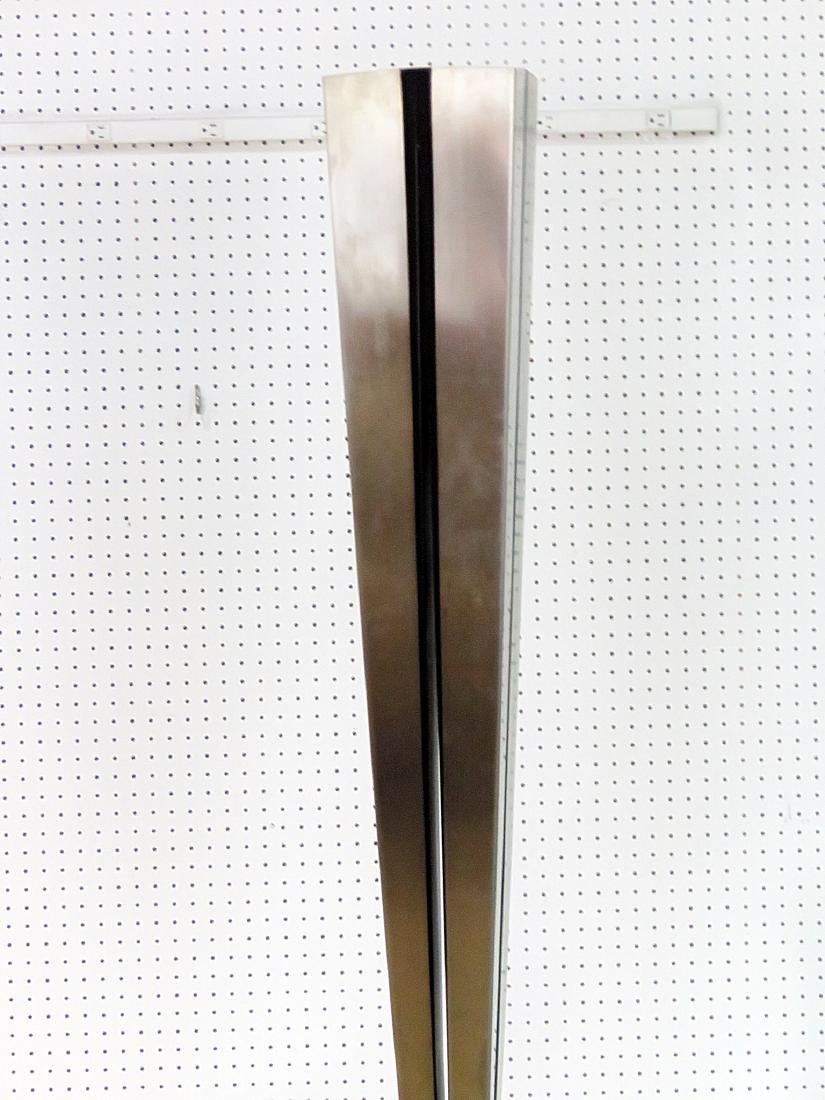 MID CENTURY MODERN STAINLESS STEEL FLOOR LAMP - 3
