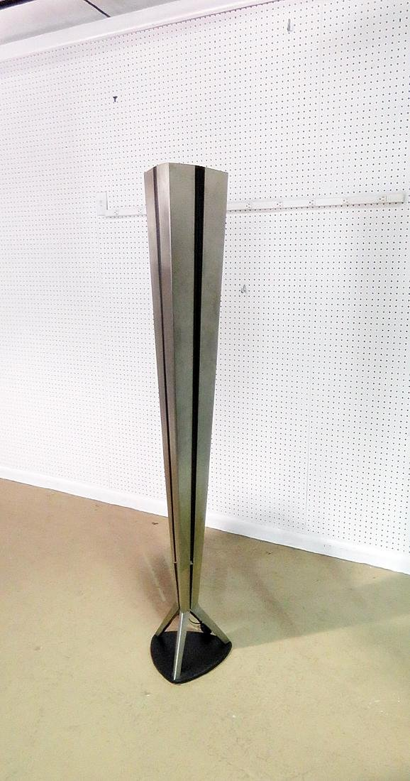 MID CENTURY MODERN STAINLESS STEEL FLOOR LAMP - 4