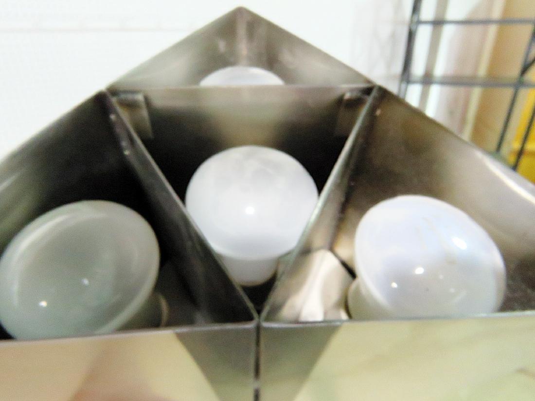 MID CENTURY MODERN STAINLESS STEEL FLOOR LAMP - 5