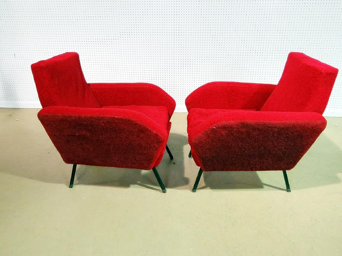 Pair VINTAGE ITALIAN ARM CHAIRS - 3
