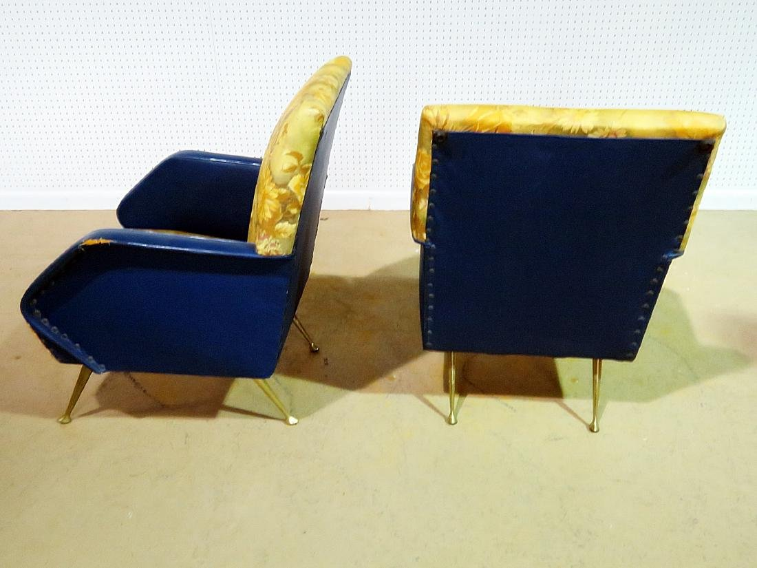 Pair VINTAGE ITALIAN ARM CHAIRS - 9