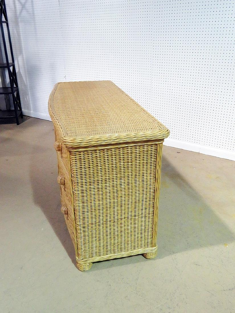 WICKER CHEST OF DRAWERS - 5