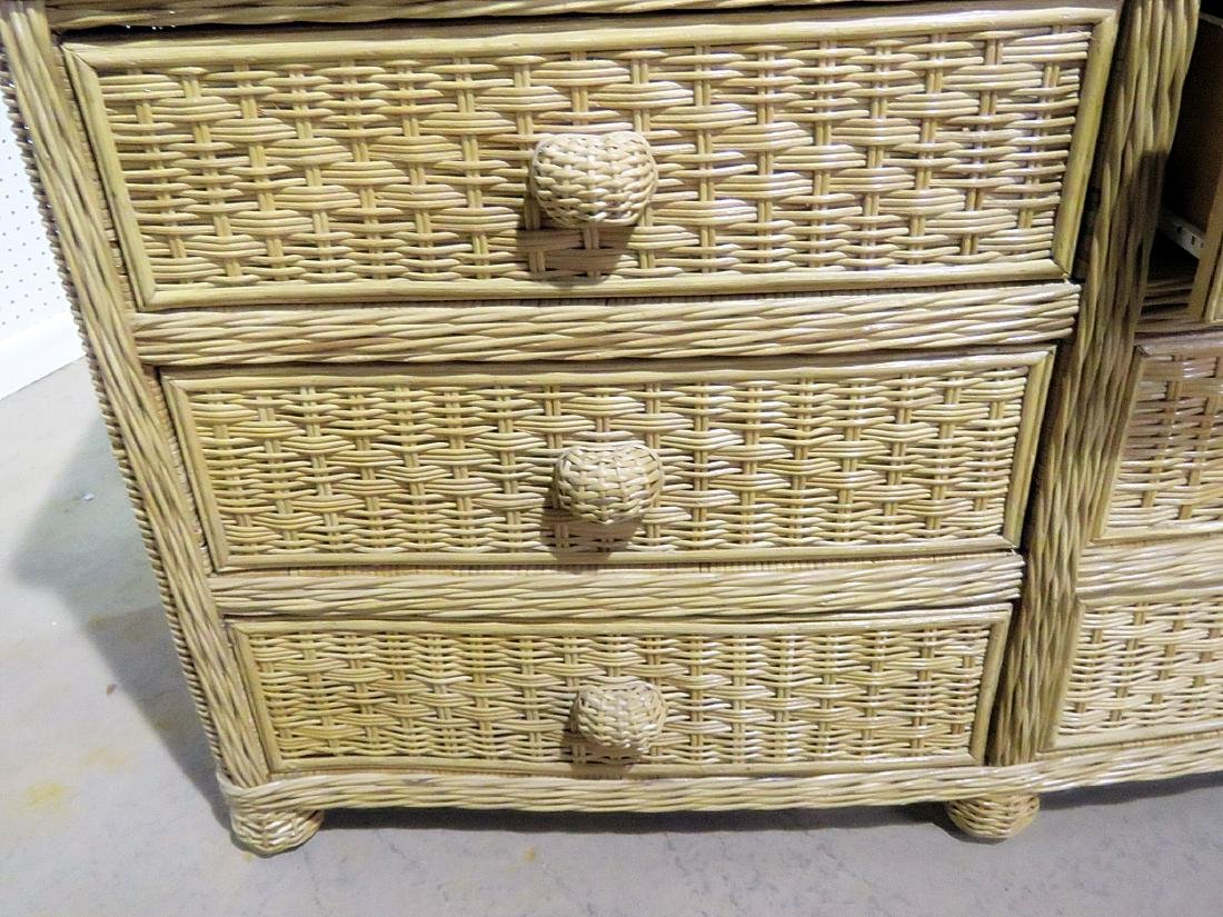 WICKER CHEST OF DRAWERS - 8