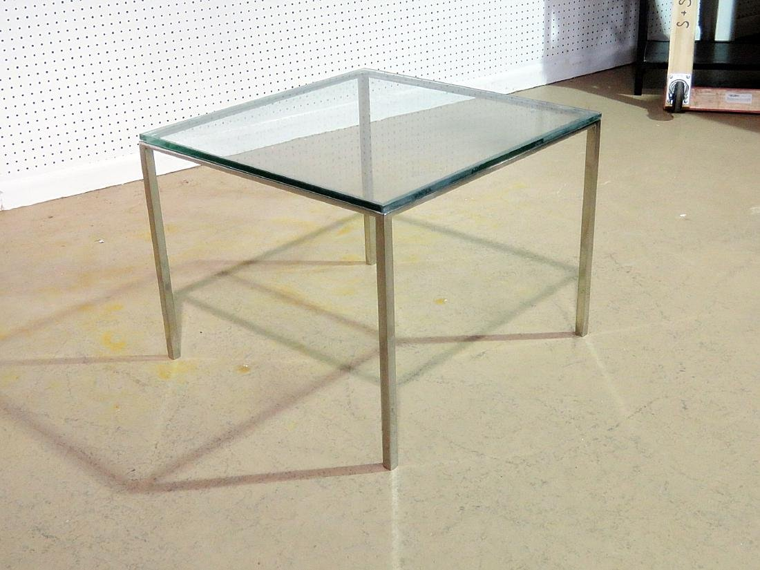KNOLL STYLE GLASS TOP END TABLE - 3