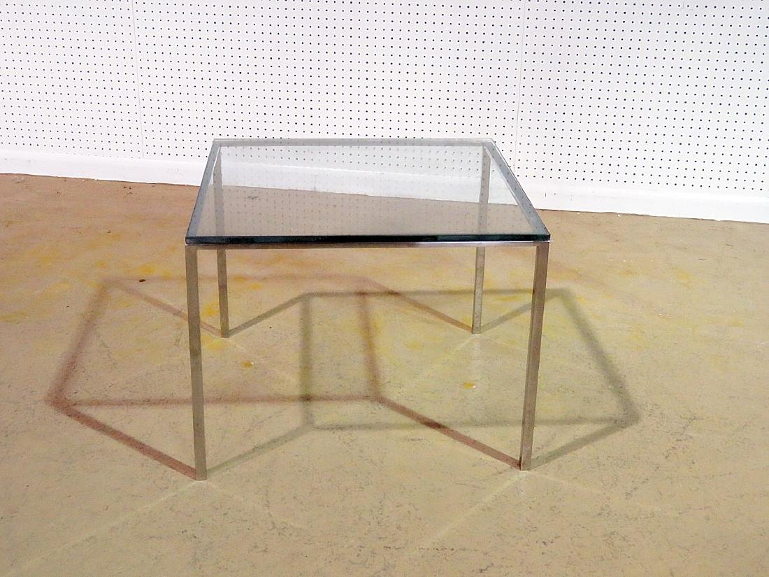 KNOLL STYLE GLASS TOP END TABLE - 4
