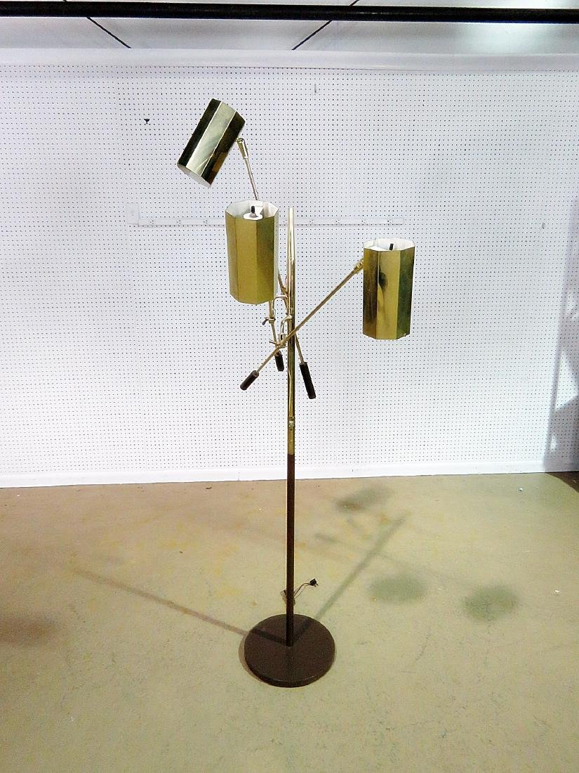 MID CENTURY MODERN TRIPLE CANISTER FLOOR LAMP - 7