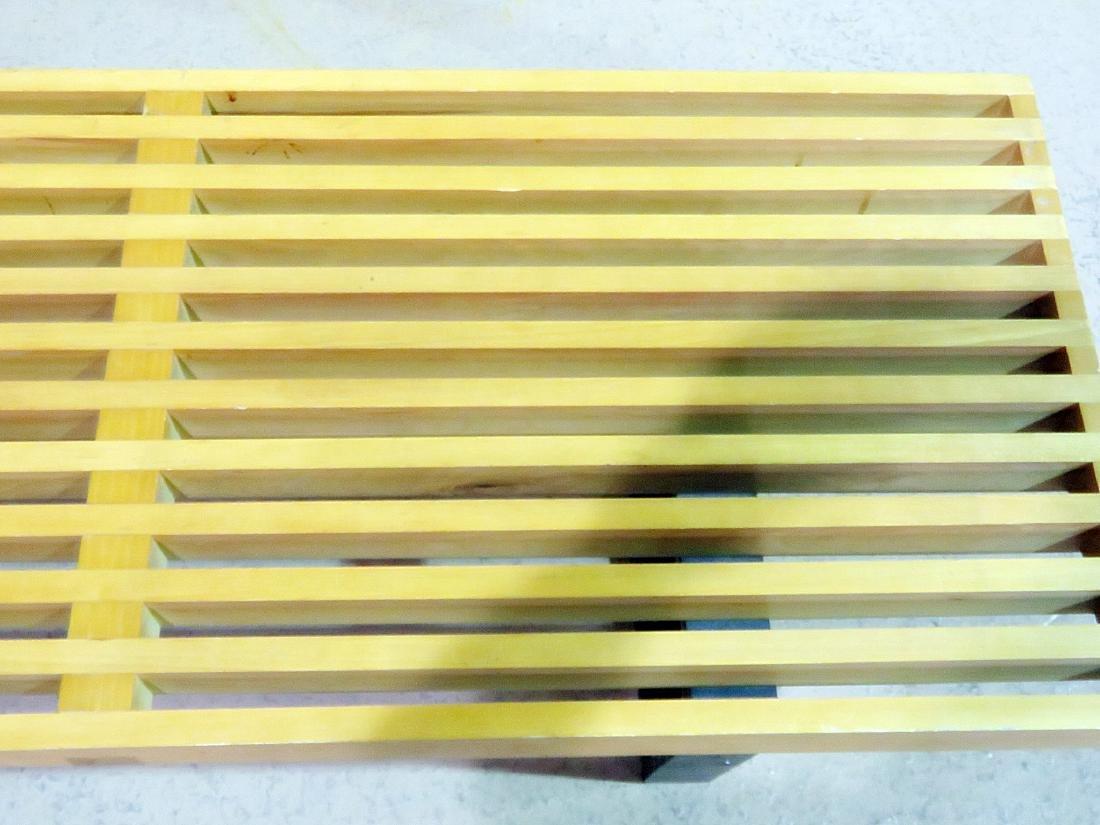 HERMAN MILLER STYLE SLATTED WINDOW BENCH - 3