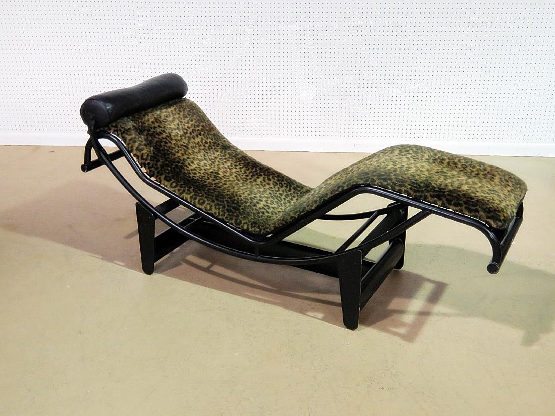LE CORBUSIER STYLE CHAISE LOUNGE CHAIR - 3