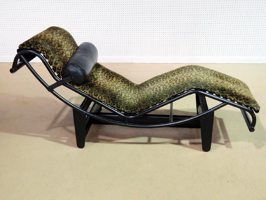 LE CORBUSIER STYLE CHAISE LOUNGE CHAIR - 7