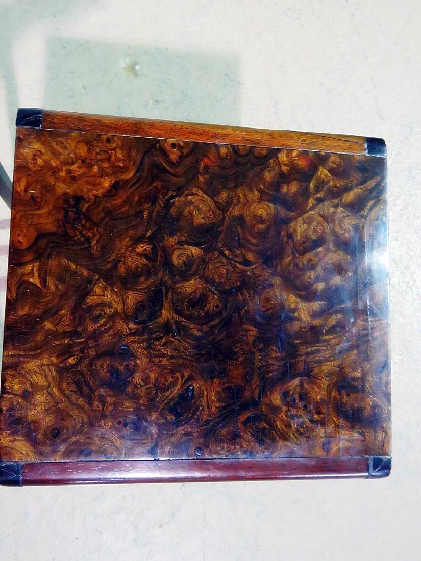 ART DECO STYLE BURL WALNUT NESTING TABLES - 5