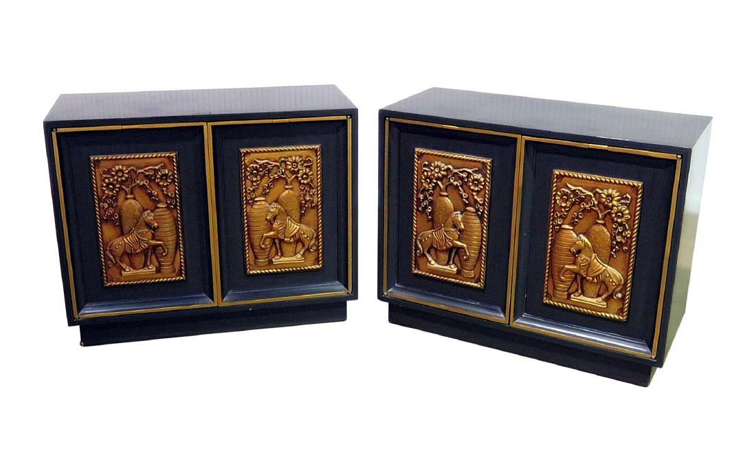 Pair RARE ART DECO CABINETS BY LANE
