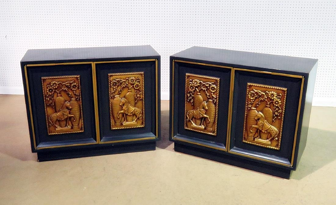 Pair RARE ART DECO CABINETS BY LANE - 2