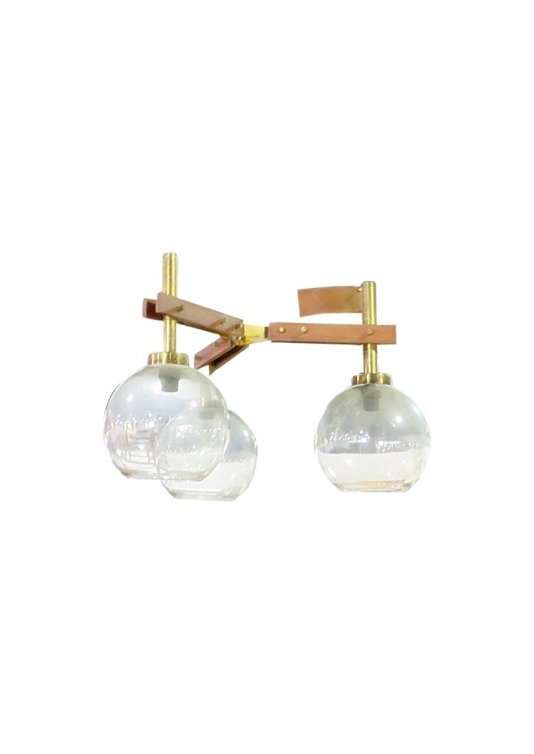 ITALIAN THREE GLOBE CHANDELIER