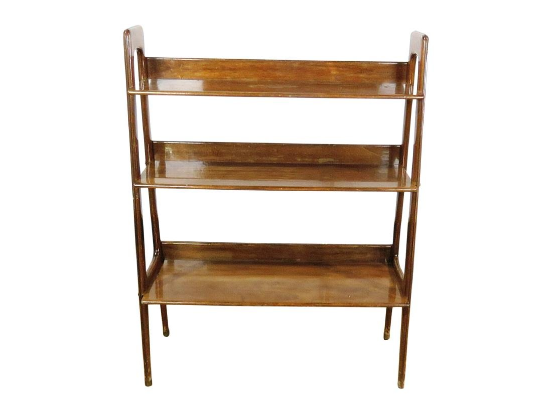 THREE TIER WALNUT BOOK CASE