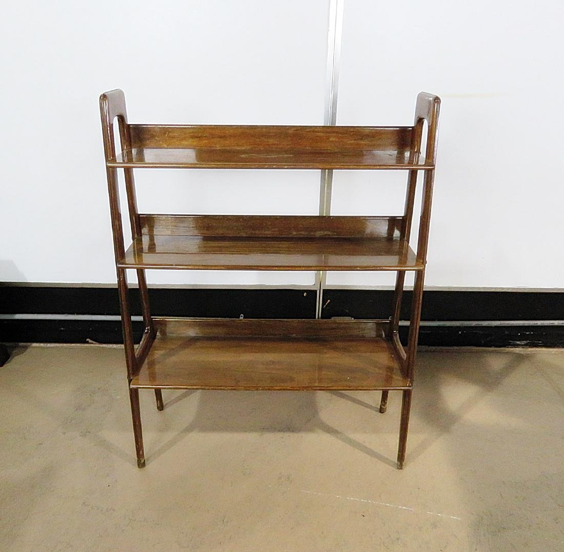 THREE TIER WALNUT BOOK CASE - 2