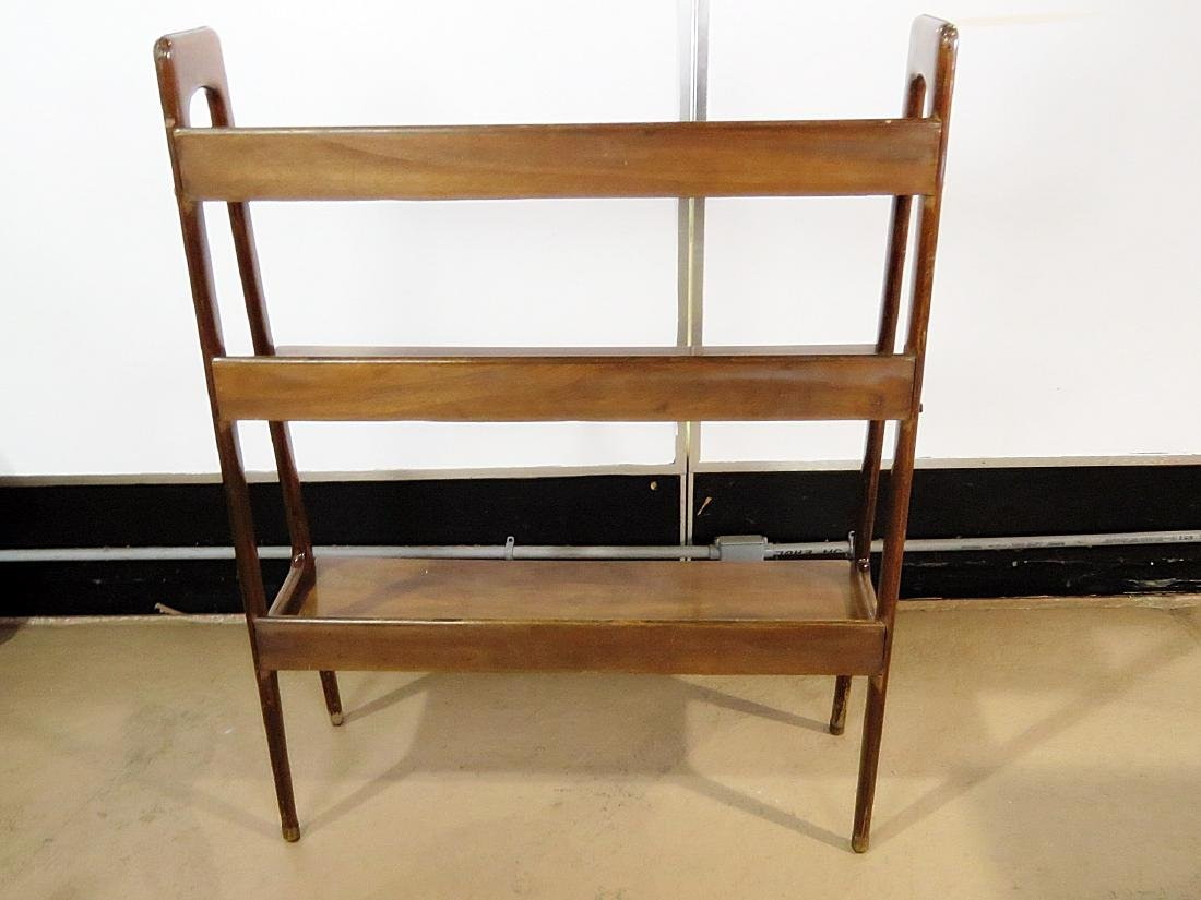 THREE TIER WALNUT BOOK CASE - 6