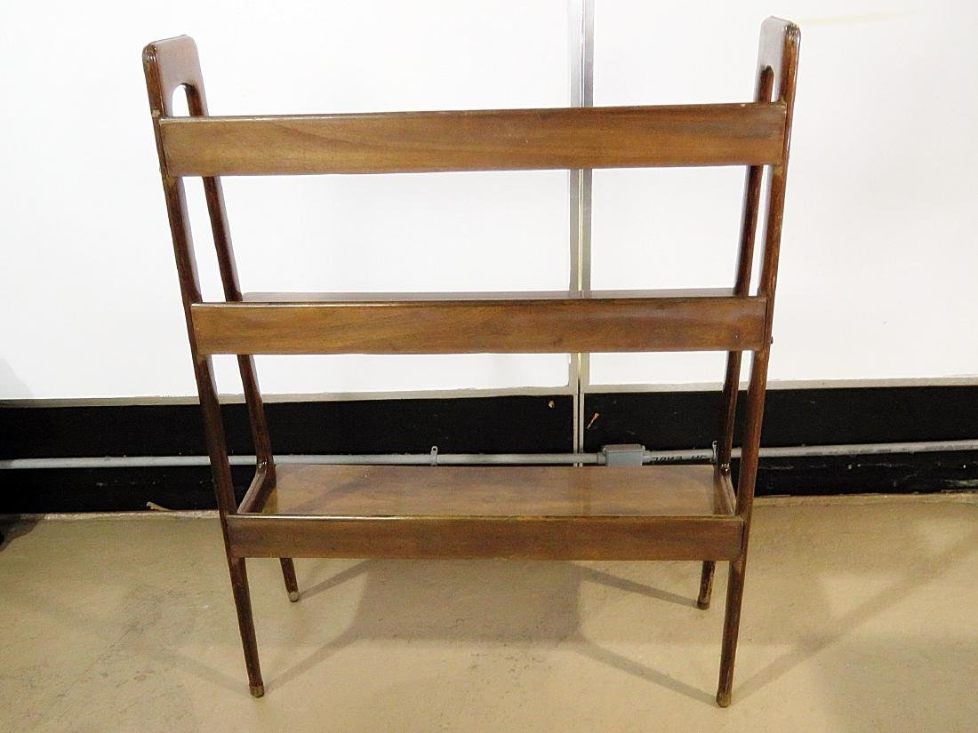 THREE TIER WALNUT BOOK CASE - 7