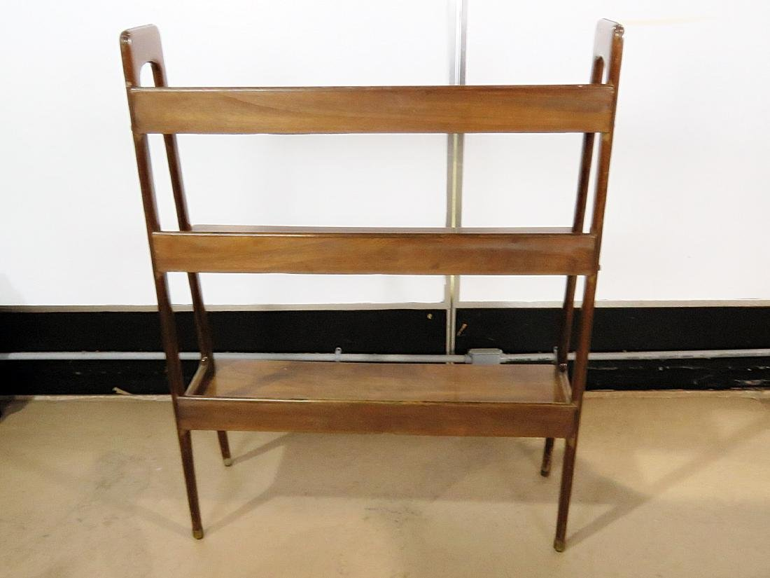 THREE TIER WALNUT BOOK CASE - 8