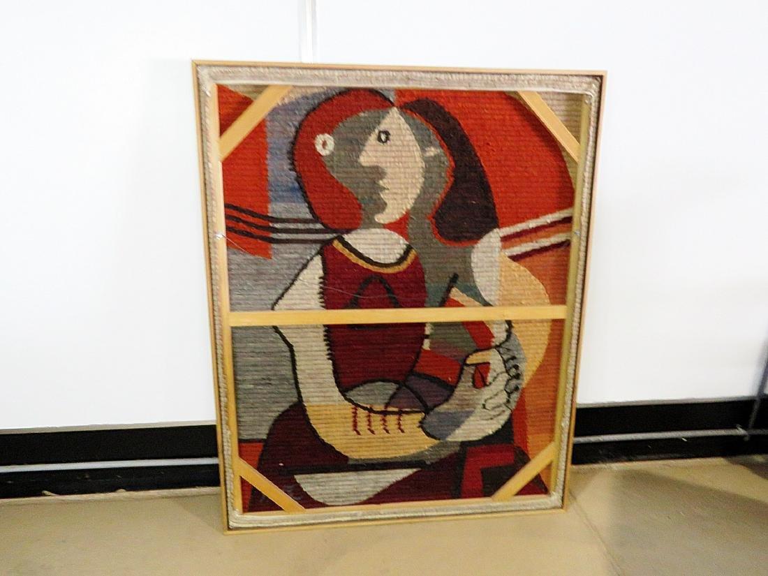 MID CENTURY MODERN TAPESTRY ARTWORK - 9