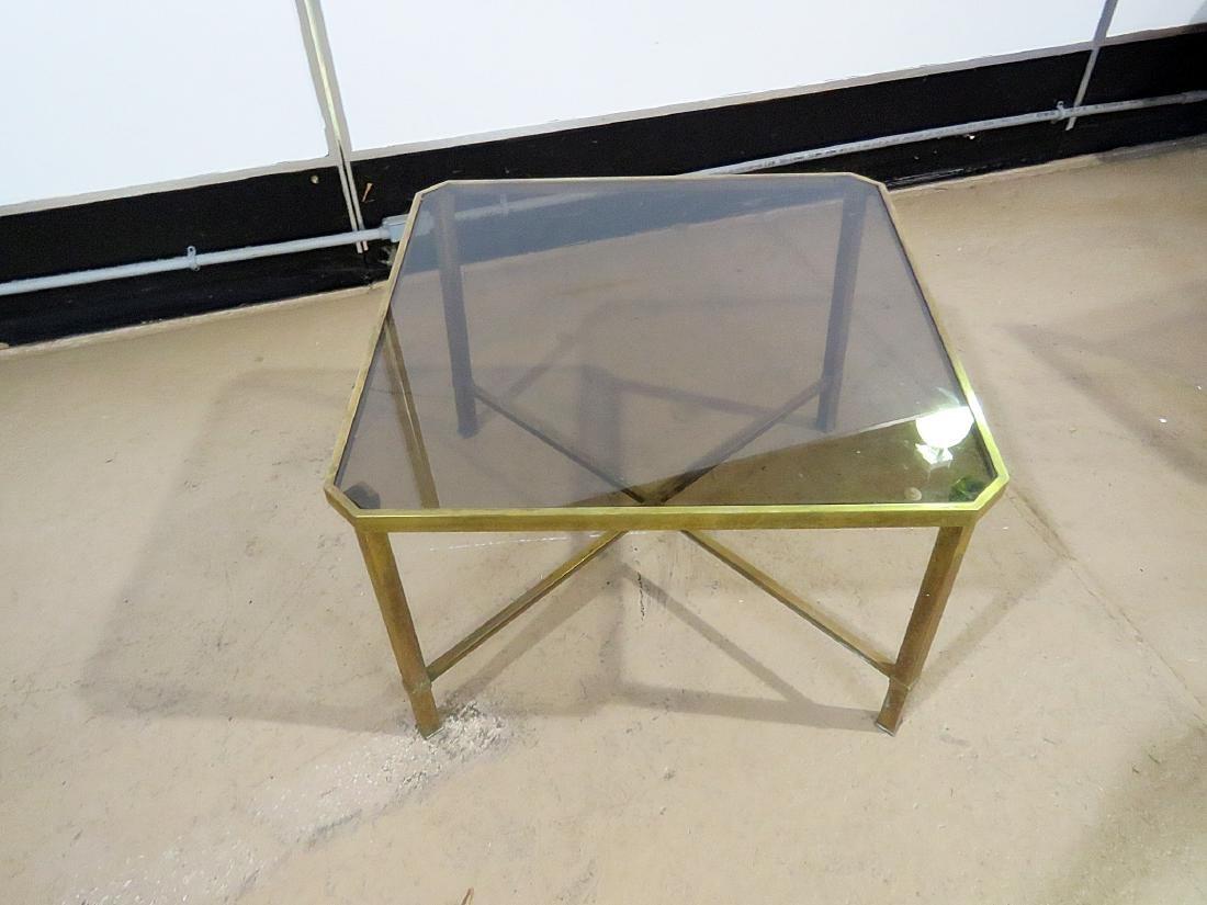 ITALIAN BRASS AND GLASS TOP COFFEE TABLE - 7