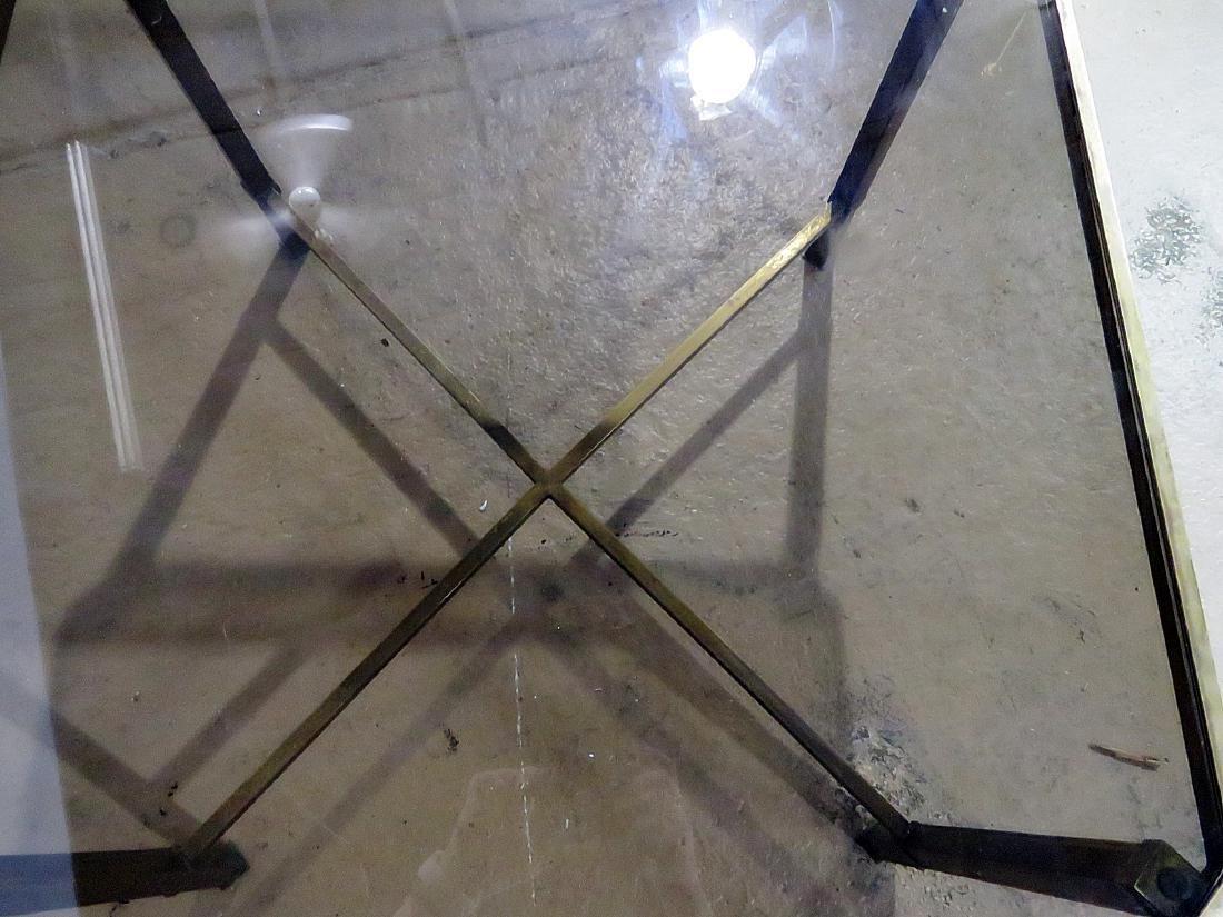 ITALIAN BRASS AND GLASS TOP COFFEE TABLE - 9