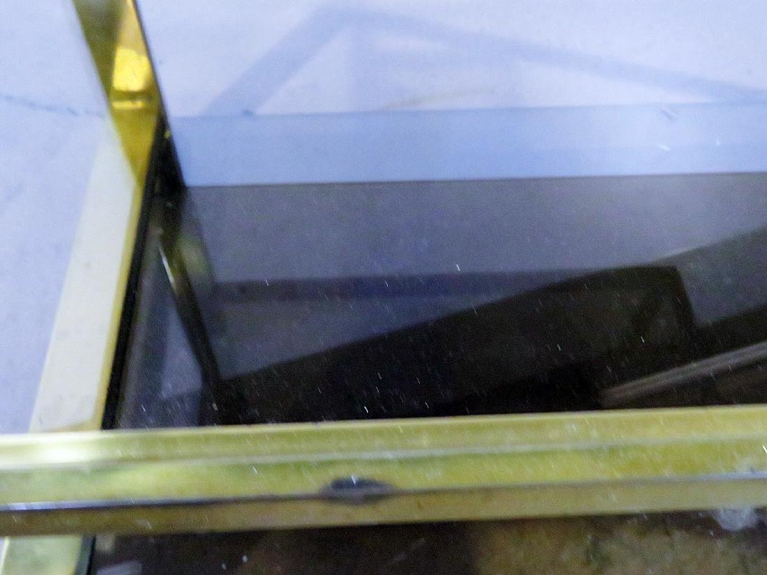 ITALIAN BRASS AND GLASS BAR CART - 8