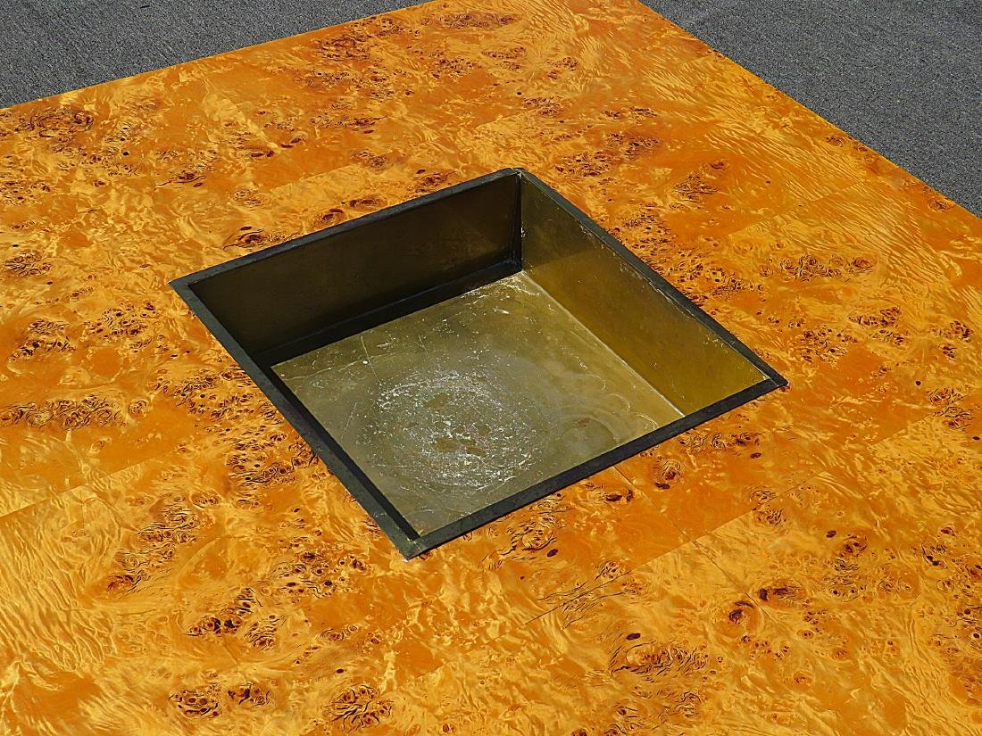 WILLY RIZZO BURLED COFFEE TABLE - 3