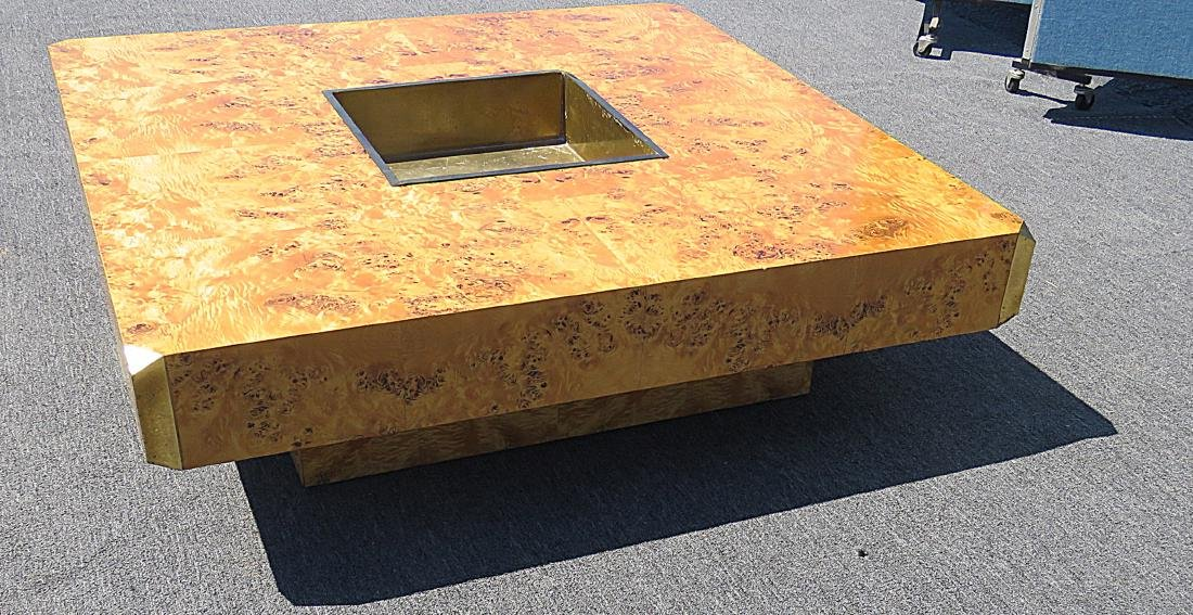 WILLY RIZZO BURLED COFFEE TABLE - 4