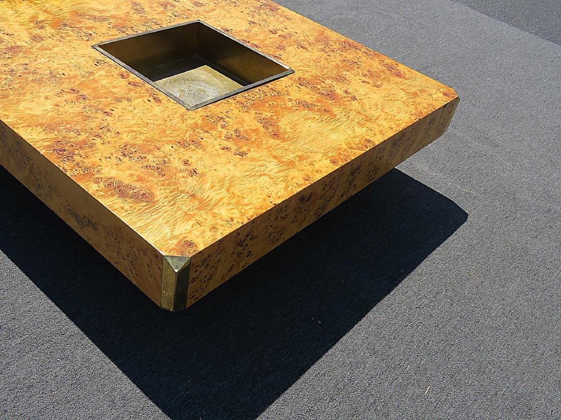 WILLY RIZZO BURLED COFFEE TABLE - 5