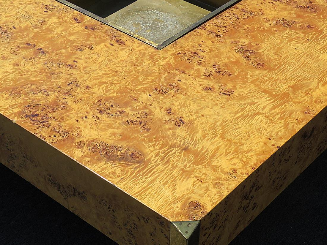 WILLY RIZZO BURLED COFFEE TABLE - 6