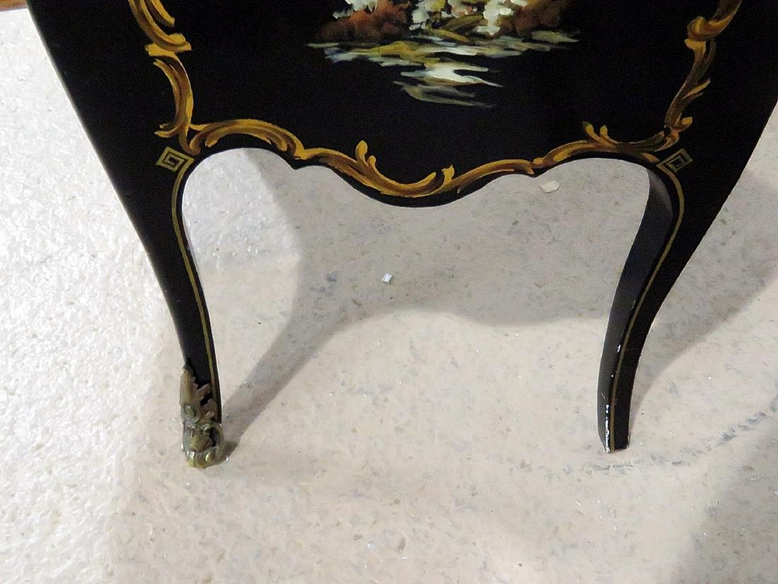CHINOISERIE MARBLE TOP BOMBAY COMMODE - 10