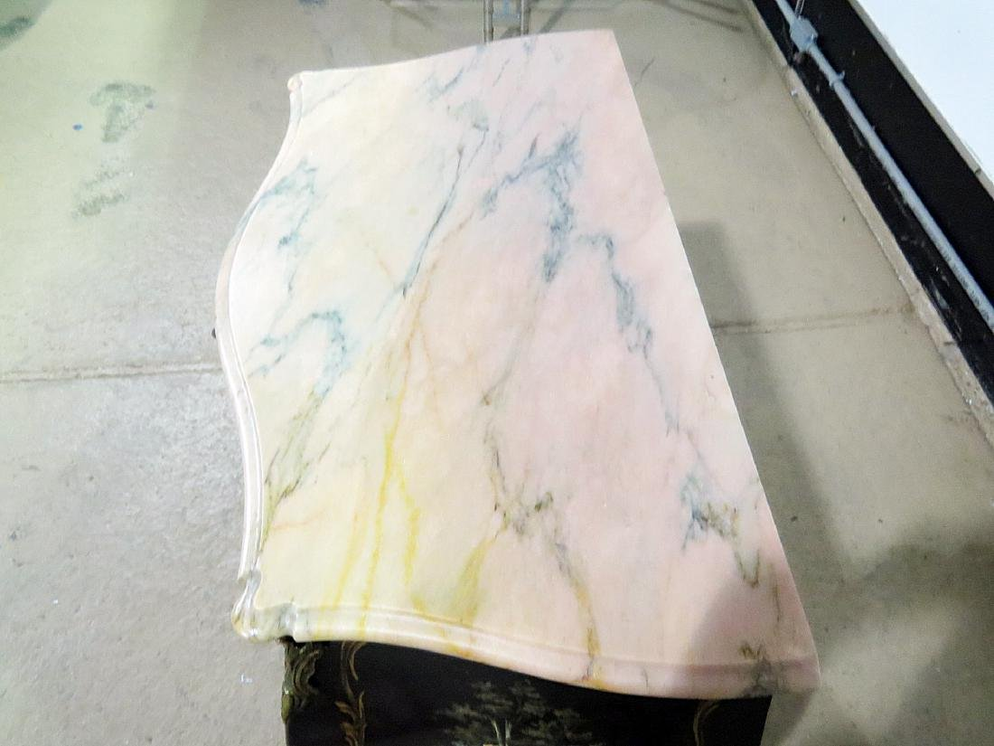 CHINOISERIE MARBLE TOP BOMBAY COMMODE - 4