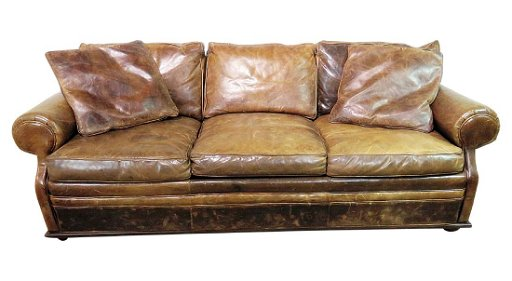 Ralph Lauren Distressed Leather Sofa
