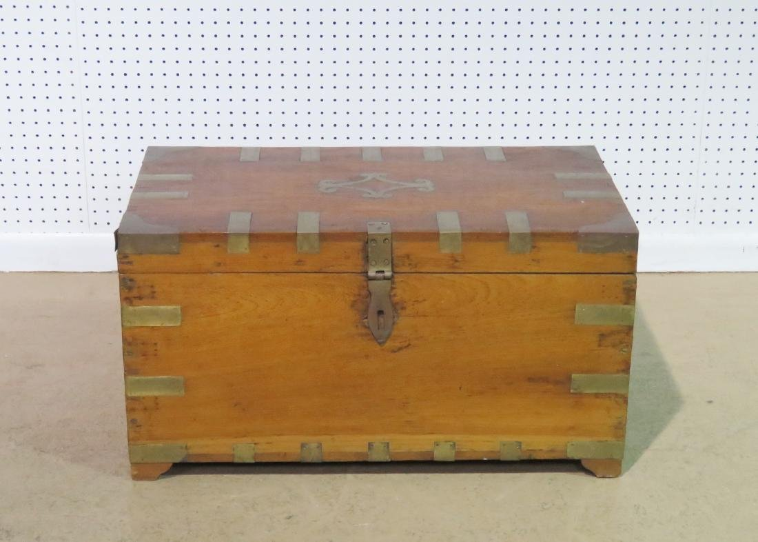 ANTIQUE CAMPAIGN TRUNK - 2