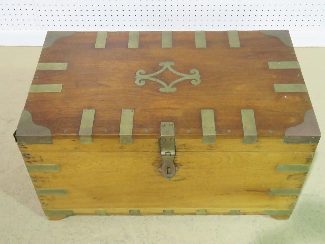 ANTIQUE CAMPAIGN TRUNK - 3