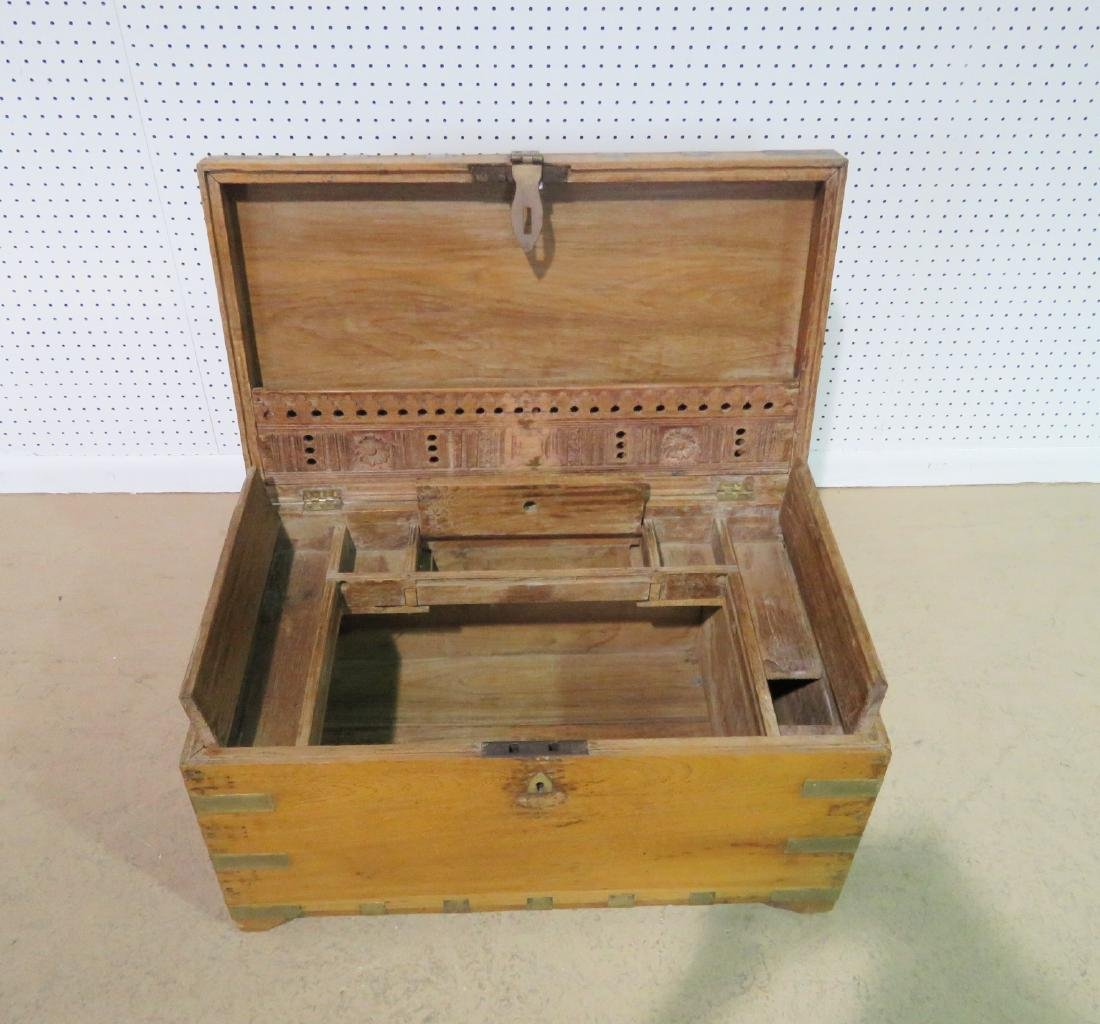 ANTIQUE CAMPAIGN TRUNK - 4
