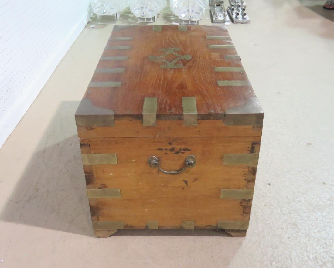 ANTIQUE CAMPAIGN TRUNK - 7