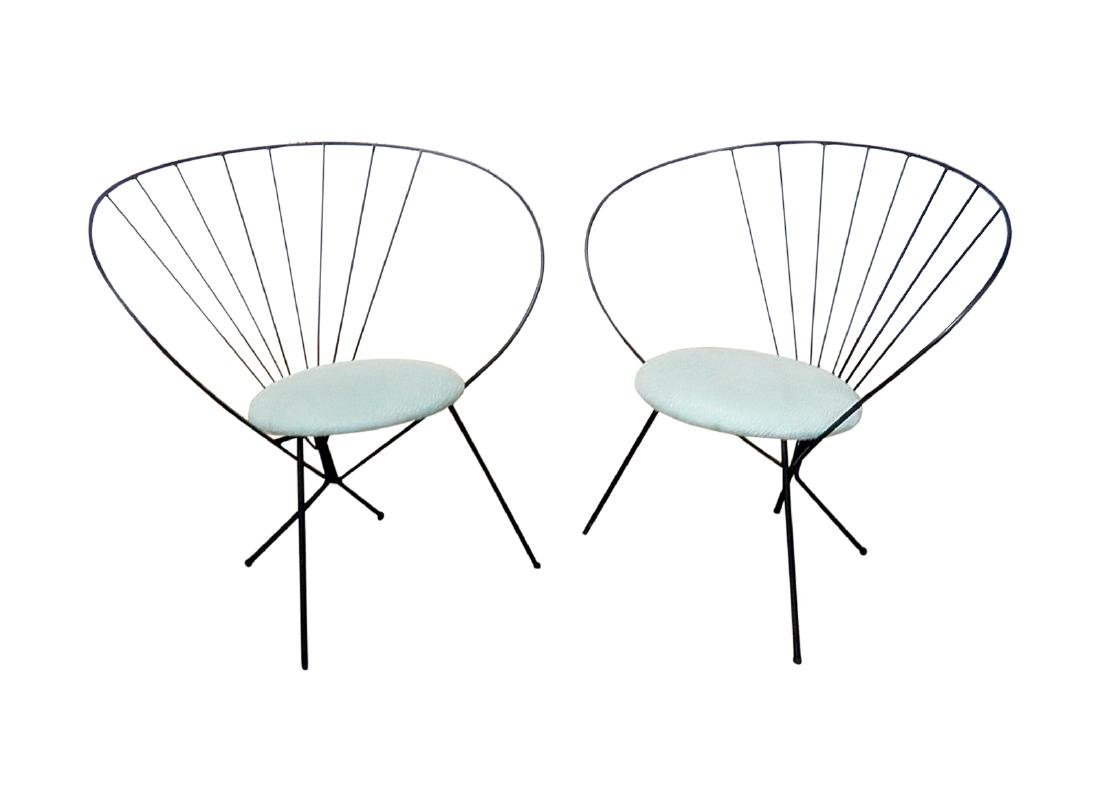Pair RILEY WOLFE METAL CHAIRS