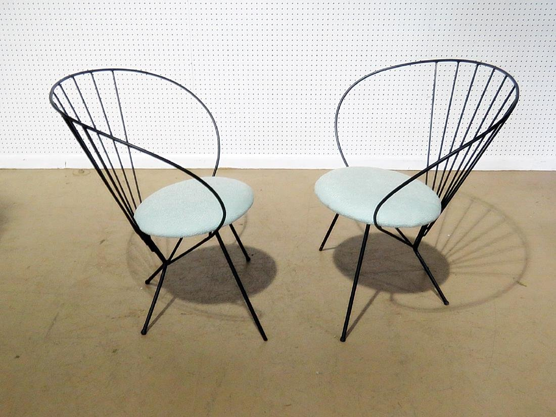 Pair RILEY WOLFE METAL CHAIRS - 4
