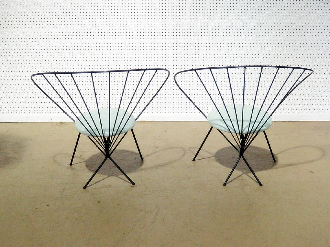 Pair RILEY WOLFE METAL CHAIRS - 5
