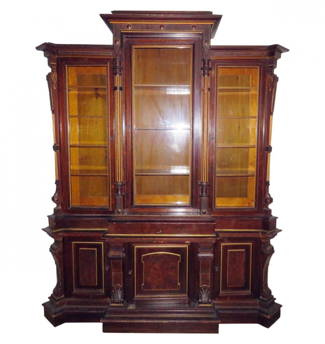 VICTORIAN ROSEWOOD BOOKCASE/BREAKFRONT