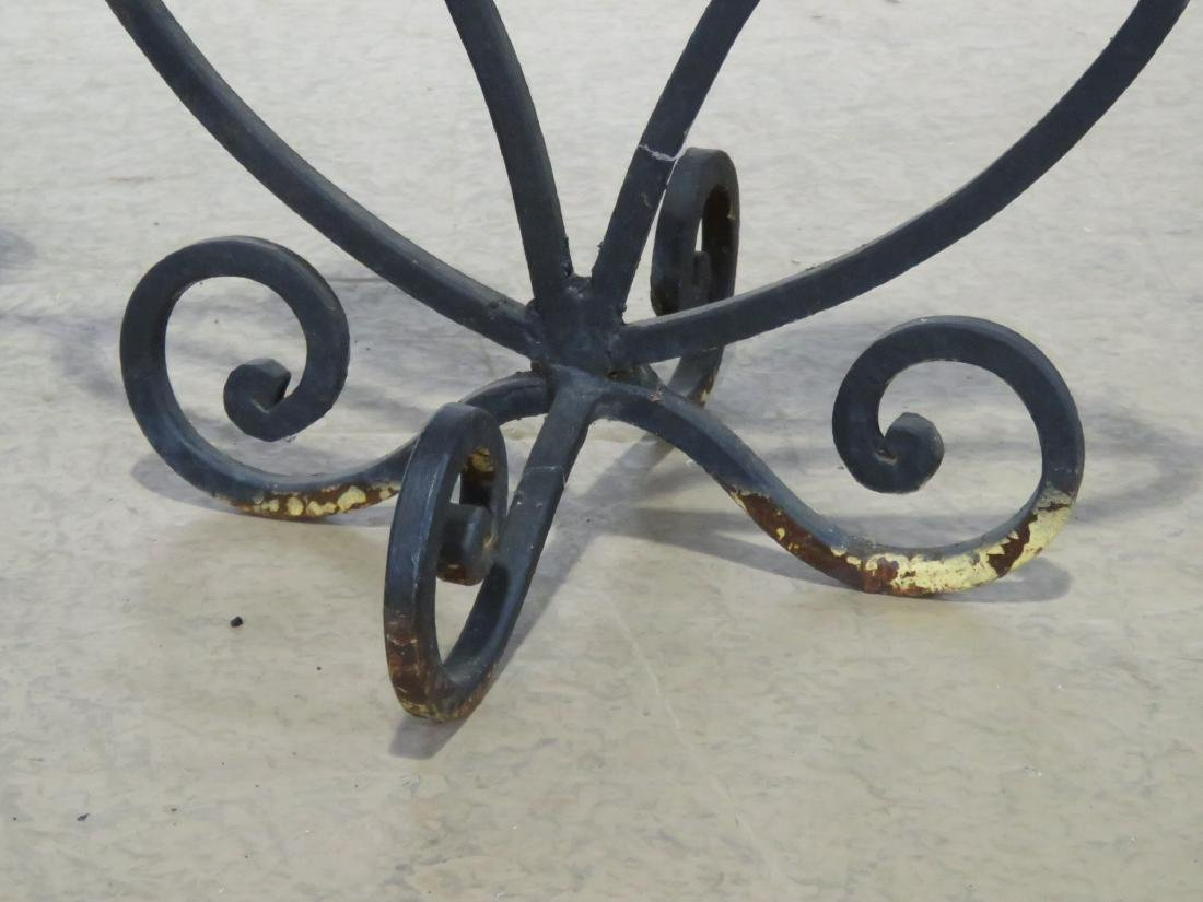Pair WROUGHT IRON DECORATIVE CANDLE HOLDERS - 4
