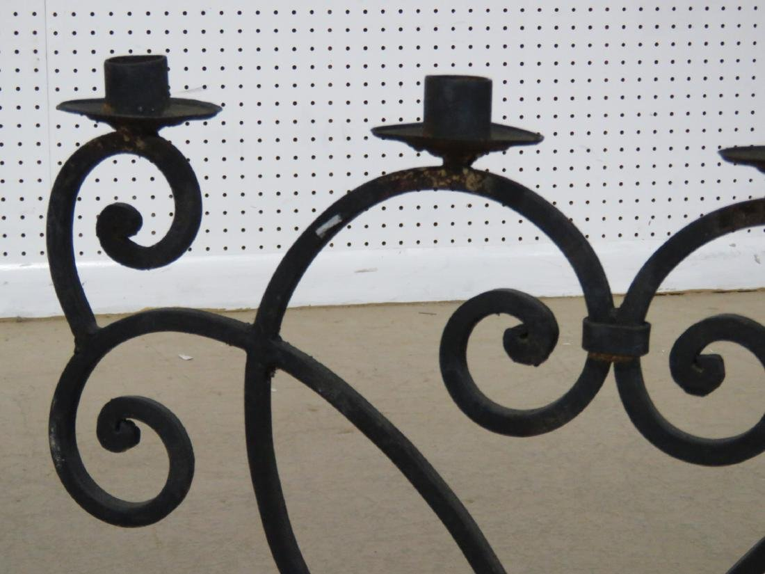 Pair WROUGHT IRON DECORATIVE CANDLE HOLDERS - 5