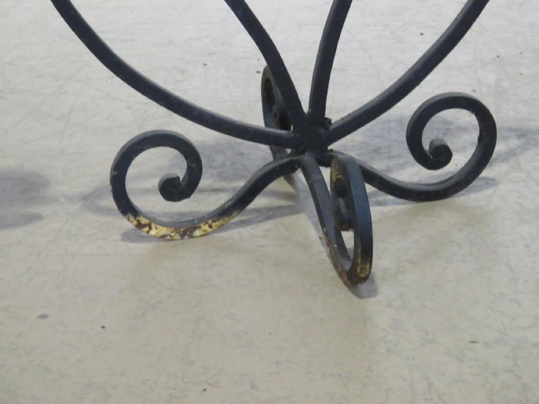 Pair WROUGHT IRON DECORATIVE CANDLE HOLDERS - 6
