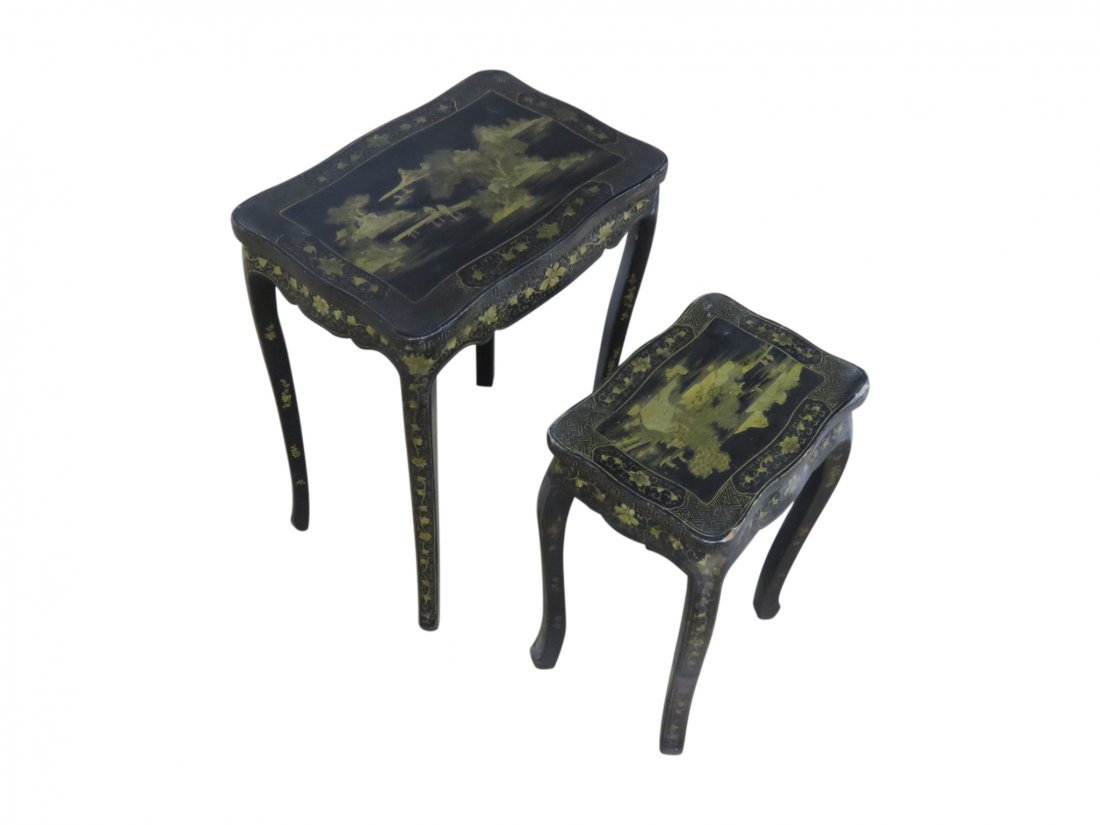 Pair CHINOSIERE NESTING TABLES
