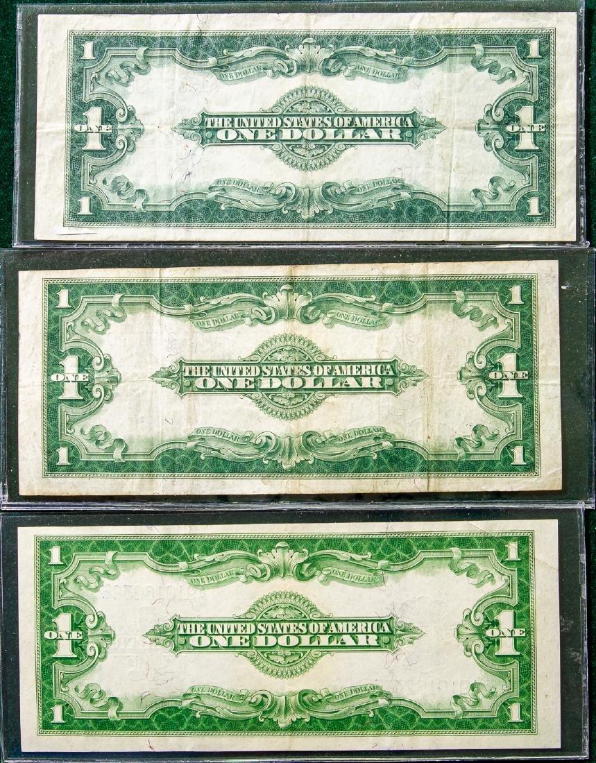 THREE 1923 ONE DOLLAR SILVER CERTIFICATES $1 - 2