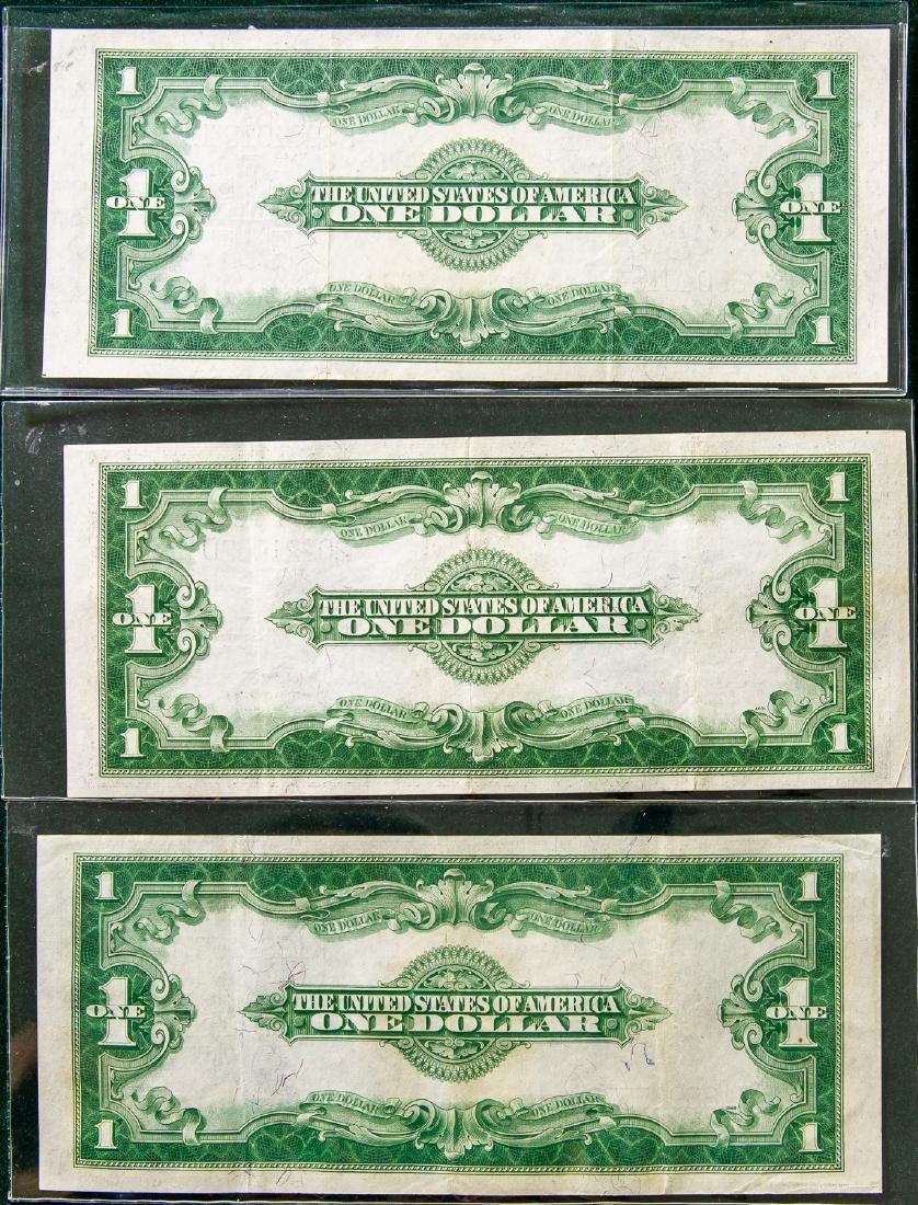 THREE 1923 ONE DOLLAR SILVER CERTIFICATES - 2
