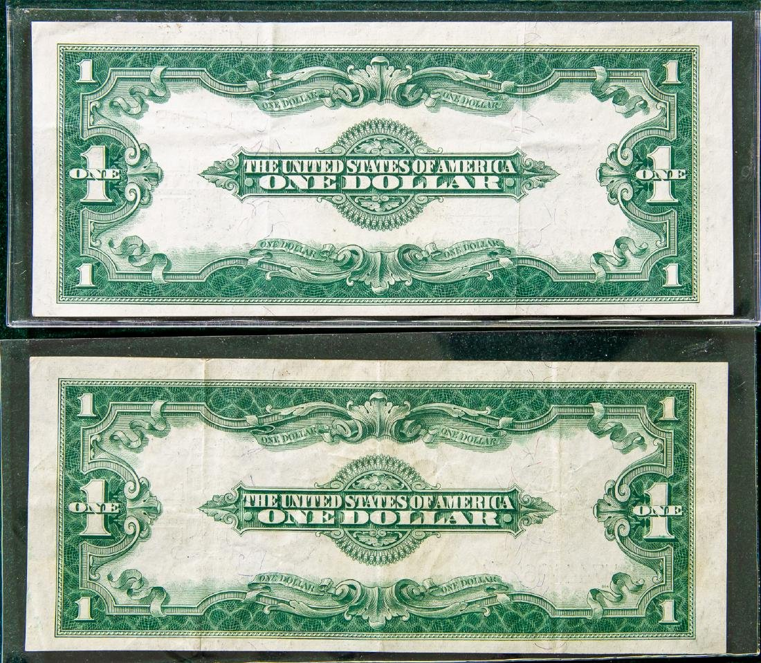TWO 1923 ONE DOLLAR $1 SILVER CERTIFICATES - 2