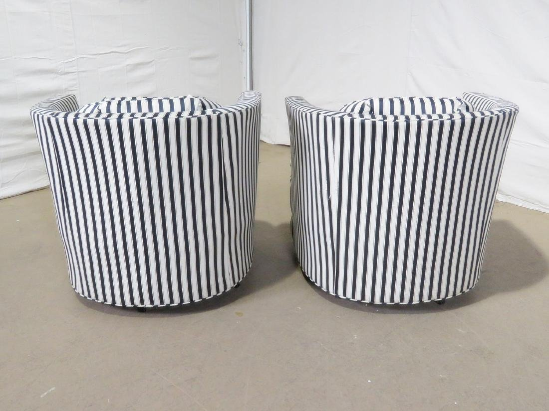 PAIR MID CENTURY MODERN CLUB CHAIRS - 5